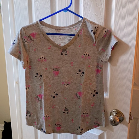 Justice   girls size 14/16 short sleeve top B6